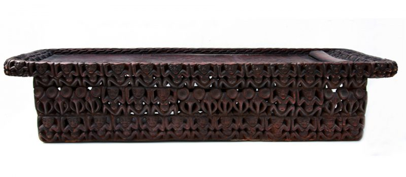 African Furniture Hand carved Wooden Bed, Bamileke